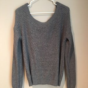 Sweaters - Gray Knitted Shrug Sweater